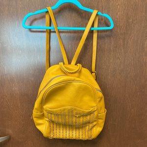 Antik Kraft vegan leather backpack yellow
